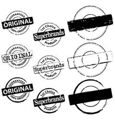 Rubber Stamp Original and Superbrand vector image