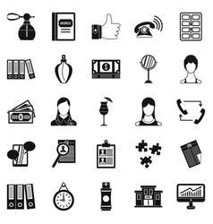 business studio icons set simple style vector image