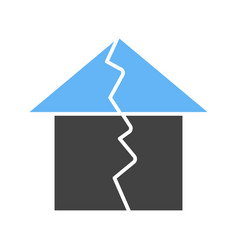 earthquake hitting house vector image