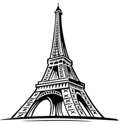 eiffel tower paris symbol france vector image