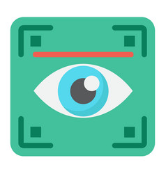 Eye scan flat icon security and iris scanner vector