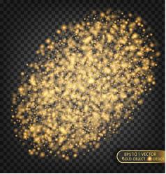 gold sparkles on a transparent background gold vector image