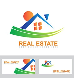 Real estate house abstract logo vector image