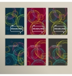 Set abstract circles on a colored background vector image vector image