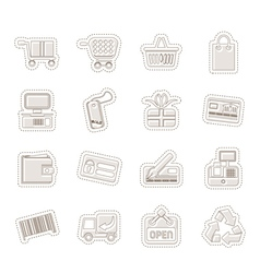 Simple Online Shop icons vector image vector image