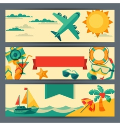 Travel and tourism horizontal banners vector image vector image