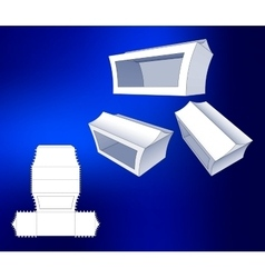 Box with windows Die Cut Template Packing box For vector image vector image