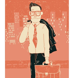 Business man in office clothes in city vector image vector image