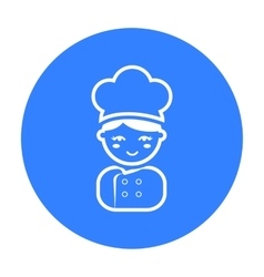 Cook black icon for web and mobile vector image vector image