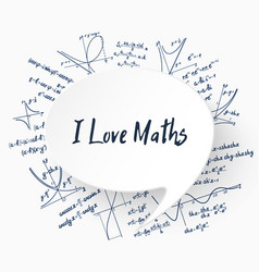 i love maths background vector image vector image