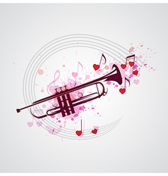 Music background with trumpet vector image