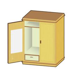 open wardrobe - vector image