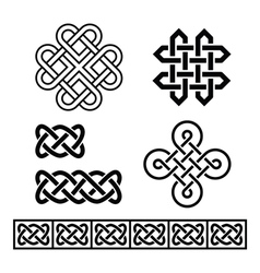 Celtic Irish patterns and braids - vector image vector image