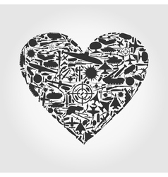 Heart the weapon vector image