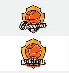 Set of basketball logo label badge emblem vector