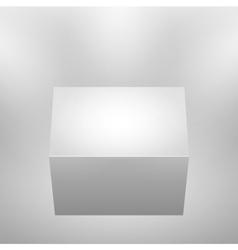 3d isolated empty podium vector image