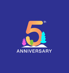 5 years anniversary celebration logotype vector image