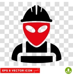 Alien Worker Eps Icon vector image