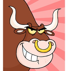 Angry Longhorn Head vector image