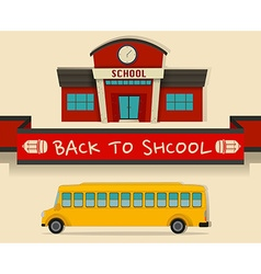 Back to school theme with schoolbus vector