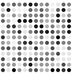 Black and white dot background vector