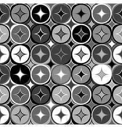 Black and white geometric seamless backgroud vector