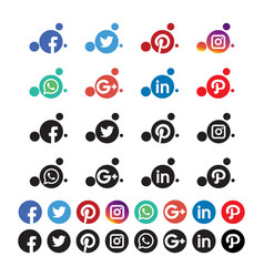 Bubble rounded social media icon vector