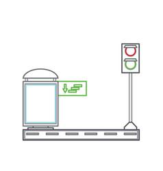bus stop design vector image