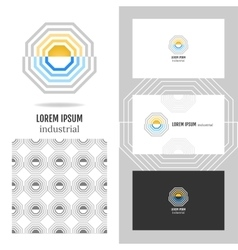 Business abstract logo icon for company Graphic vector image