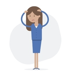 Business Woman Upset vector image
