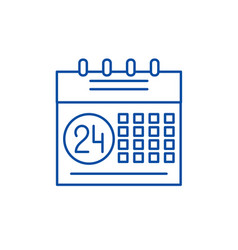 calendar planning system line icon concept vector image