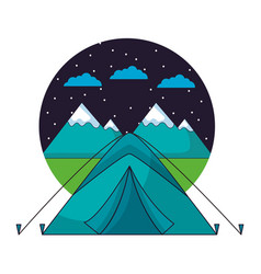 Camping summer concept vector