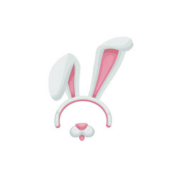 cartoon animal bunny ears and mouth with nose vector image