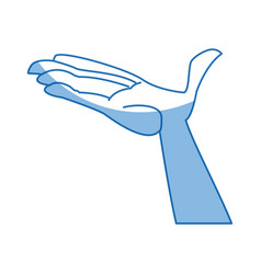 Cartoon hand man open palm vector