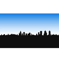 City building morning vector