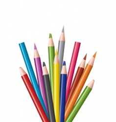 coloring in pencils vector image