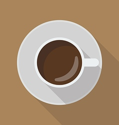 Cup of coffee top view vector