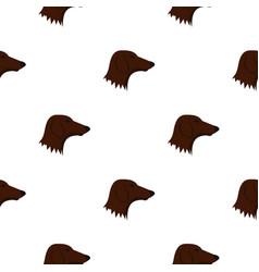 Dachshund dog pattern seamless vector