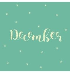 December Brush lettering vector image