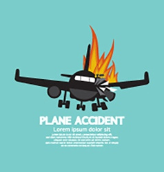 Doomed Plane Accident On Fire vector image