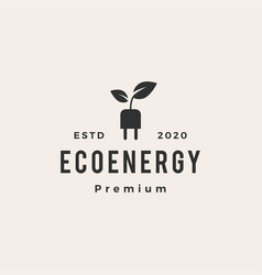 eco energy hipster vintage logo icon vector image