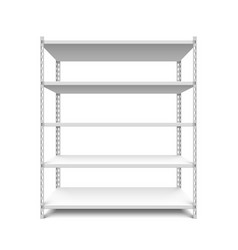 empty storage shelf vector image