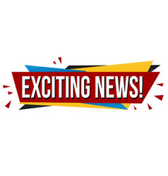Exciting news banner design vector