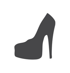 feminine shoe icon simple car sign vector image