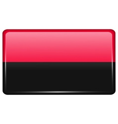 Flags UPA in the form of a magnet on refrigerator vector
