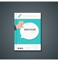 flyer or banner Brochure template design vector image