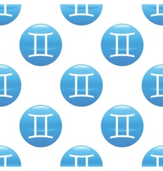 Gemini sign pattern vector image