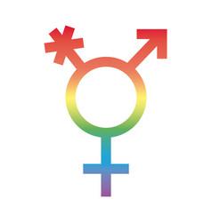 Gender symbol sexual orientation degradient vector