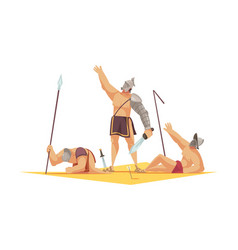 Gladiator cartoon composition vector