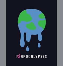 global warming melting earth vector image